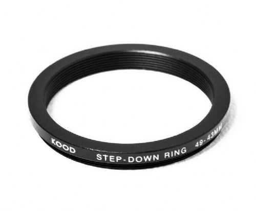 Stepping Ring 49-43mm 49mm to 43mm Step Down Ring Stepping Rings 49mm-43mm